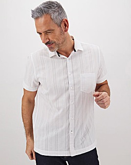 Textured Short Sleeve Shirt