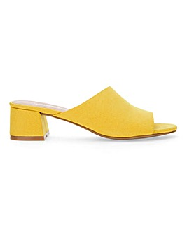 Melinda Mule Block Heel Wide Fit