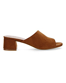 Melinda Mule Block Heel Wide E Fit