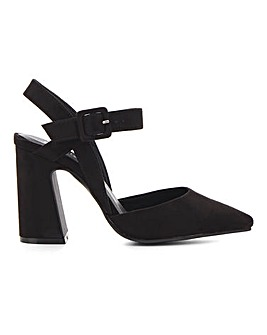 Aurelian Flared Heel Court Shoe Wide Fit