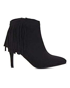 Dahlia Fringed Ankle Boot Wide Fit