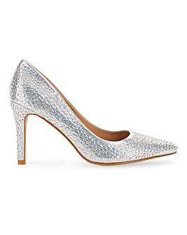 Venus Glitzy Court Shoe Wide Fit