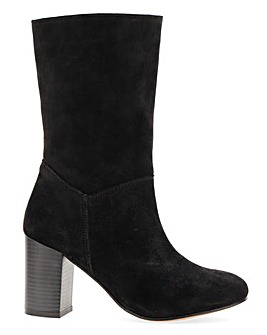 Gardenia Suede Slouch Boot Wide Fit