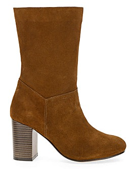 Gardenia Suede Slouch Boot Extra Wide