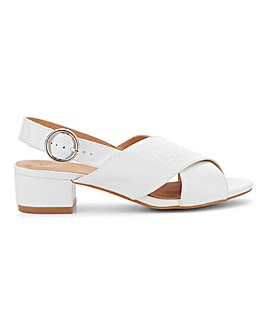 Houston Cross Front Sandals Wide Fit
