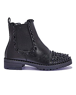 Stud Detail Ankle Boots Standard Fit