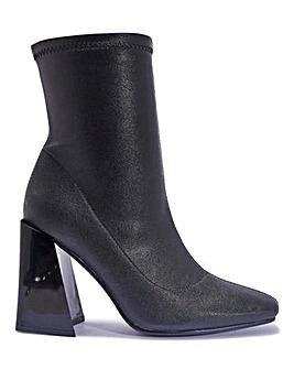 Flared Heel Sock Boots Standard Fit