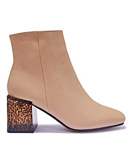 Block Heel Ankle Boot Standard Fit