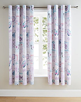 Nola Printed Lined Eyelet Curtains