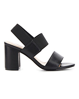 Rome Elastic Block Heels Wide Fit