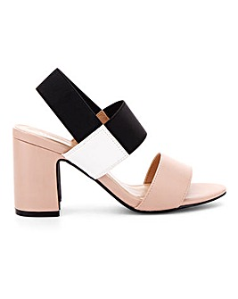 Rome Elastic Block Heels Wide E Fit