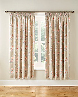 Penelope Thermal Pencil Pleat Lined Curtains And Tie Backs