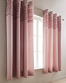 Catherine Lansfield Aubrey Embellished Eyelet Lined Curtains