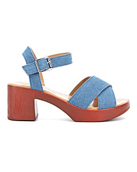 Liza Block Heel Sandal Wide Fit