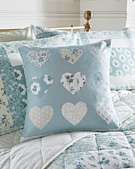 Rosina Patchwork Heart Filled Cushion