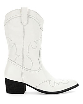 Azalea Leather Western Boots Extra Wide