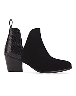 Aster Suede Ankle Boots Wide Fit