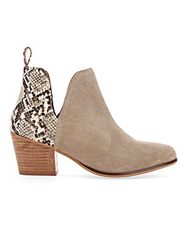 Aster Suede Ankle Boots Extra Wide Fit