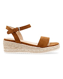 Oregon Espadrille Wedge Extra Wide Fit