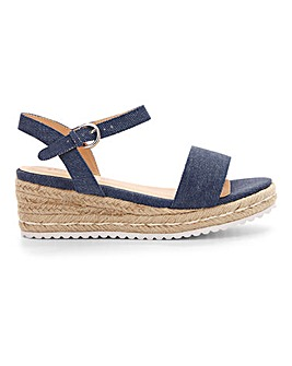 Oregon Espadrille Wedge Wide E Fit