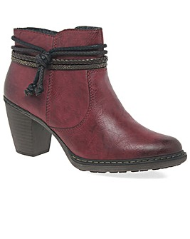 Rieker Rope Standard Fit Ankle Boots