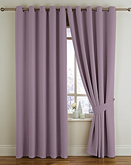 Twilight Woven Blackout Eyelet Curtains