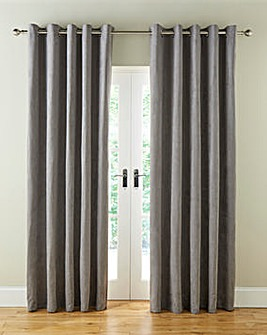 Faux Suede Eyelet Lined Curtains