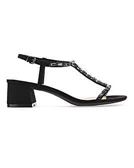 Chicago T-Bar Block Heels Extra Wide EEE Fit