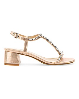 Chicago T-Bar Block Heels Wide E Fit