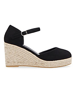 Nerva Espadrille Court Wedge Wide Fit