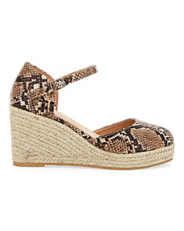 Nerva Espadrille Court Wedge Wide E Fit