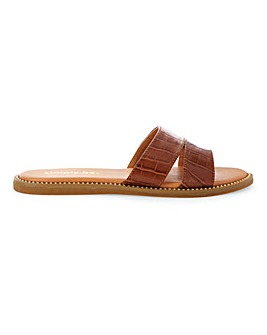 Nevada Mule Flat Sandal Extra Wide Fit