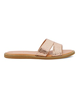 Nevada Mule Flat Sandal Wide Fit