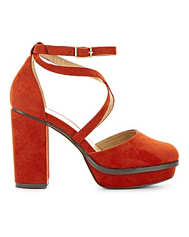 Bellona Platform Heels Wide E Fit
