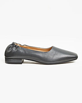 Leather Slip On Loafer Wide E Fit