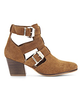 Fern Leather Ankle Boot Wide Fit