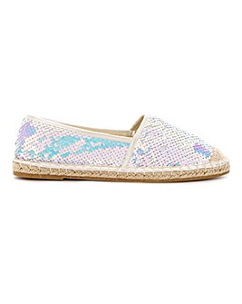 Polly Sequin Espadrille Extra Wide Fit