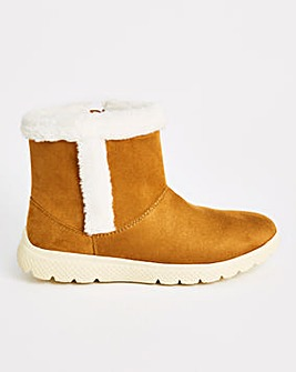 Cushion Walk Pull On Ankle Boot Wide E Fit