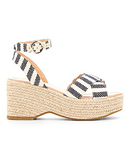 Tuscany Espadrille Wedge Wide Fit
