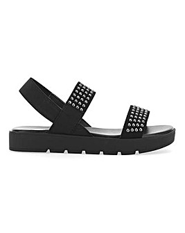 Irving Elastic Chunky Sandal Extra Wide EEE Fit