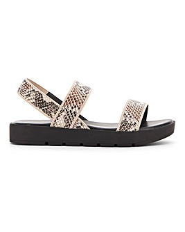 Irving Elastic Chunky Sandal Wide Fit