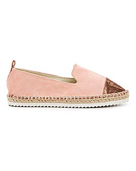 Minnie Toecap Espadrille Wide E Fit