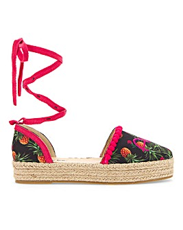 Aloha Beaches Espadrille Wide E Fit