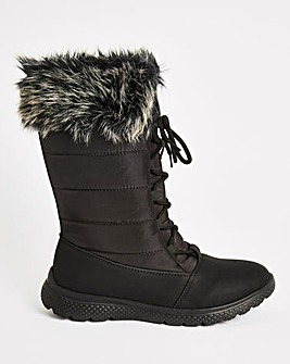 Cushion Walk Warm Lace Boot E Fit