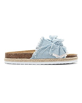 Detroit Bow Flatform Mule Wide Fit