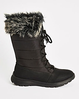 Cushion Walk Warm Lace Boot Extra Wide EEE Fit