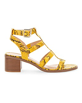 Vegas Gladiator Block Heel Wide Fit