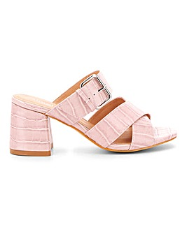 Antonio Multi Strap Mule Extra Wide Fit