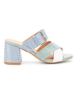 Antonio Multi Strap Mule Wide E Fit