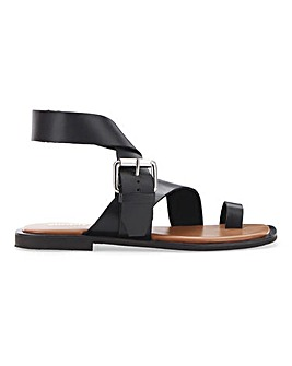 Ohio Toe Loop Leather Sandal Extra Wide EEE Fit